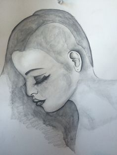 Finished piece using water soluble graphite