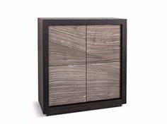 Natural stone highboard with doors PICASSO P2 RIVER GREY