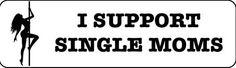 Helmet sticker - I support single moms