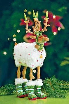 Blitzen Reindeer, by Patience Brewster. See the entire collection of Santa's Reindeer at shelley b home and holiday