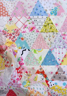Equilateral Triangle Quilt by Red Pepper Quilts  I love this!! I want to make one with a larger equilateral triangle in the colors of dawn in Oklahoma