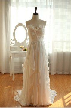 High Low Tiered Layers Custom Made Bridal Wedding Dress