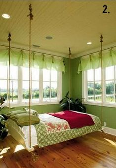 Swinging Bed ... I think I would love this concept!