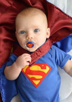 Super Baby on a CLEAR AVENT Pacifier 0 to 6 months  - Custom Hand Painted Pacifier on Etsy, $13.50