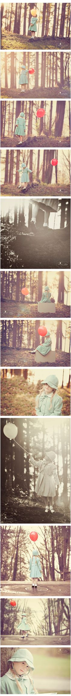 red balloon photography  Similar series of Lia for nursery???