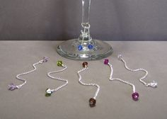 interesting spin on wine glass charms