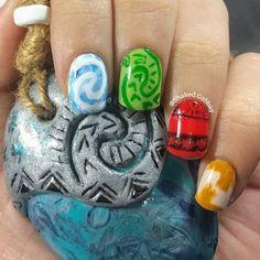 Disney Moana inspired nails