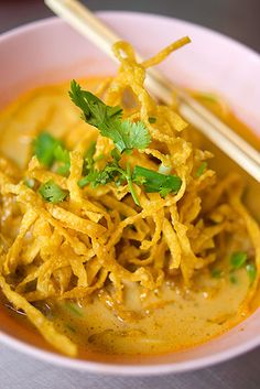 Khao Soi -- best Thai dish ever.  If you love curry but are also a noodle lover and can't choose, this is your dish!