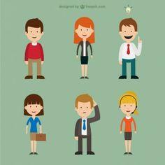 Gente personajes de dibujos animados