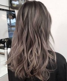 Cool long layered ash brown hair is a fresh and modern idea with plenty of texture Ash Brown Hair Color, Brown Hair With Highlights, Brown Blonde Hair, Light Brown Hair, Ash Brown Hair Balayage, Color Highlights, Brunette Hair, Balayage Hair Ash, Honey Balayage