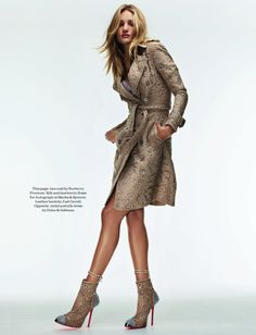 Rosie Huntington Whiteley Wows in the September Issue of Elle UK by David Vasiljevic