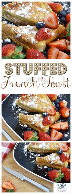 Take a breakfast classic to the next level with this amazing stuffed French toast recipe! Featuring the diner-style French toast you've come to know and love and a delicious cream cheese spread in the middle, this dish will make breakfast your favorite meal of the day. #breakfast #brunch #recipe #creamcheese