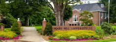 Mars Hill is now an accredited University! :)  New Sign.....