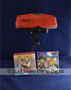 What's new @ Video Game Depot  This Virtual Boy is a 32-bit table-top video game console developed and manufactured by Nintendo and is the newest gaming console to join our gaming family. Released in 1995, it was marketed as the first console capable of displaying stereoscopic 3D. Although a lot of people say it was an embarrassment to Nintendo and the gaming world. It had a very short time in gaming history, but a lot still say it was a first step towards today's 3D gaming. That's what's…