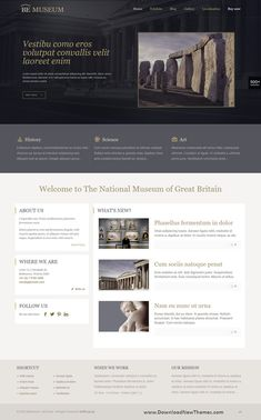 BeTheme is a clean, stylish and modern design responsive multipurpose WordPress theme that helps you build any type of website in a few hours. It comes with 500+ pre-built niche homepage layouts. Save time and money to download now & live preview click on image 👆 Museum Museumdesign Museumwebsitedesign Museumwebsitetheme webdevelopment uiuxdesign webtemplate weblayout artgallery antic