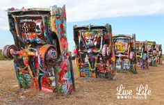 Must See Route 66 Landmark in Texas - A place where graffiti is encouraged.