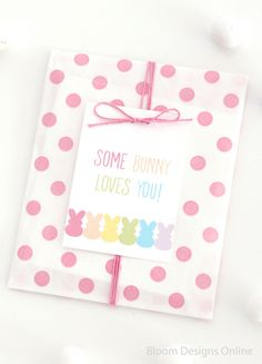 Some Bunny Loves You Easter Tags a free printable from Bloom Designs Online are the perfect final touch to any Easter gift.