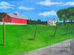 "Broadlawn Farms 18""x24"" Water Based Oil stretched canvas.  $650.00 Broadlawn Farm The Ziemba's dairy farm 46 Walling Road Adams, MA 01220-9717"