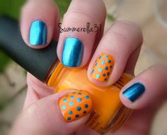 How are you supporting your NBA finals pick? We love these cute OKC Thunder Nails!