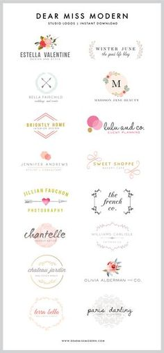 Ok, here it is: I LOVE to design logos, and I adore making them available in the Dear Miss Modern Shop for you guys. New logos are WAY overdue (embarrassingly so), and while the designs don't take me that long to create, the act of packaging them up for sale is a really time-consuming task for…
