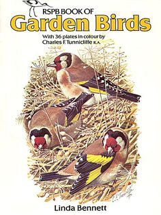 Charles Tunnicliffe - cover for RSPB book Garden Birds