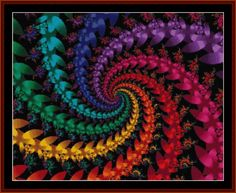 Fractal 57 downloadable cross stitch pattern by Cross Stitch Collectibles -- 350w x 290h -- $9.99 -- Download this beautiful pattern now at http://store.payloadz.com/go/?id=180463  Cross stitch your own masterpiece with one of our 4,000+ downloadable fine art patterns at http://clicknstitch.net #needlepoint