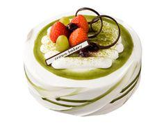 beautiful green tea cake in South Korea