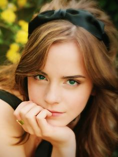 Emma Watson. ...Gosh, she's so gorgeous. And this photograph is SPECTACULAR.