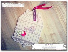 Faire part cage oiseau romatique for Deco cage a oiseau