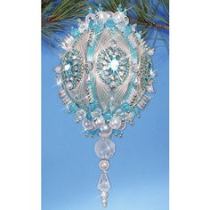 satin beaded ornament kits and patterns | Mary Maxim - Winter Ice Limited Edition Masterpiece Ornament