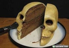 Skull cake - surrealistic.