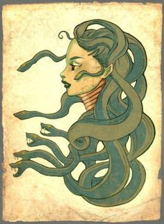 Medusa :: The Real Story of the Snake-Haired Gorgon Medusa Art, Medusa Gorgon, Medusa Tattoo, Fantasy Creatures, Mythical Creatures, Character Creation, Character Design, Greek Monsters, Female Monster