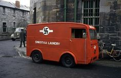 Swastika Laundry van… but in Ireland, not in Nazi Germany. The Swastika Laundry was founded in and was located on Shelbourne Road, Ballsbridge, a district of Dublin. The delivery vans, of which. Old Pictures, Old Photos, Vintage Photos, Automobile, Ancient Symbols, Dublin Ireland, Historical Pictures, World War Ii, Wwii