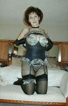 Mature grannies in sheer lingerie