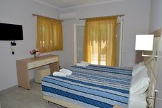 Santos Luxury Apartment no 34 in Corfu can sleep four or five people. Located just 50 meters from the Dassia Beach is the ideal place for families. Corfu Apartments, Luxury Apartments, Holiday Apartments, Luxury Holidays, Holiday Time, New Builds, Bedroom Apartment, Vacation, Furniture