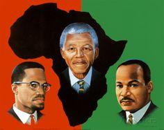 """""""En Afrique du Sud, ils ne se battent pas pour quelque chose de différent de ce contre quoi on se bat en Amérique. La seule différence est que là-bas ils prêchent et pratiquent l'apartheid. L'Amérique prêche la liberté et pratique l'esclavage.""""  Crédit Peinture : Wolfgang Otto"""