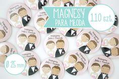 Magnesy z młodą parą jako podziękowania dla gości weselnych - możecie być pewni, że nikt nie będzie miał takich samych upominków dla gości jak Wy! :D  Magnesy w różnych rozmiarach i ilościach dostępne w ślubnym sklepie internetowym Madame Allure :)