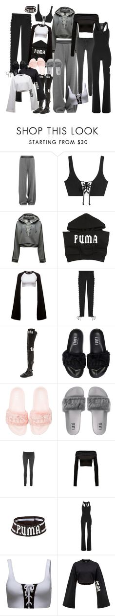 """""""YouTube idea : PUMA X FENTY"""" by selinalindroth ❤ liked on Polyvore featuring Puma"""