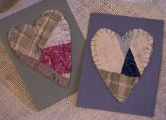 Feedsack Heart Cards Vintage Cutter Quilt  by ITSYOURCOUNTRY, $9.99
