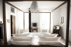 beautiful lamp and bed