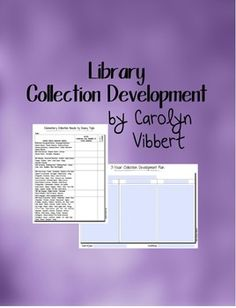 Library Collection Development Plan Templates | Risking-Failure.com