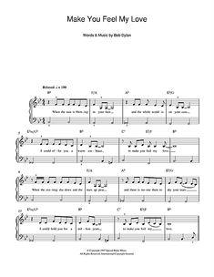 Adele: Make You Feel My Love - #piano Sheet Music