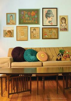 I grew up with crochet pillows and needlepoint wall hangings!