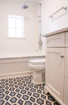 Scott Lyon & Company - bathrooms - subway tile shower surround, subway tiled tub shower combo, paneled bath, paneled tub, marble tub deck, r...