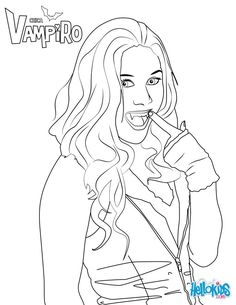 Daisy O'Brian coloring page from Chica Vampiro TV series. More Chica Vampiro content on hellokids.com