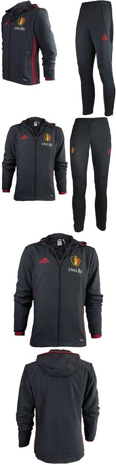 Track Suits 59339: Adidas Belgium Track Suit Mens Rbfa Presentation Suit Jogging Fitness New BUY IT NOW ONLY: $82.19