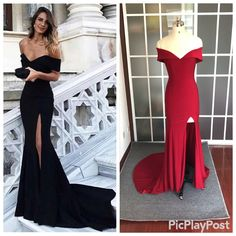 sexy mermaid prom dresses off the shoulder evening gowns for special occasion Fitted Prom Dresses, Prom Girl Dresses, Mermaid Prom Dresses, Formal Dress, Black Evening Dresses, Evening Gowns, Mermaid Evening Gown, Sexy Gown, Quinceanera Dresses