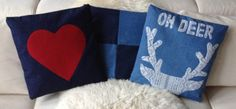 Love these denim pillow cases by Dvoot