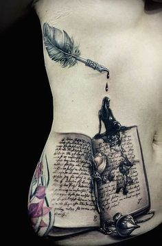 Awe-inspiring Book Tattoos for Literature Lovers book tattoo ideas Sexy Tattoos, Unique Tattoos, Beautiful Tattoos, Body Art Tattoos, Sleeve Tattoos, Sailor Tattoos, Arabic Tattoos, Incredible Tattoos, Lace Tattoo Design