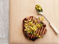 Buttermilk Pork Chops with Corn Relish Recipe : Food Network Kitchen : Food Network - FoodNetwork.com